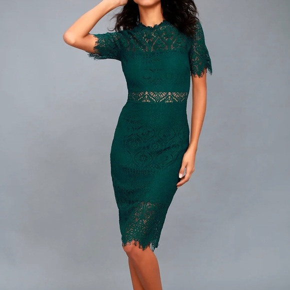 Emerald Green Lulu's Dress